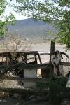 Heading west from Kingman, Arizona, there are many abandoned mines (in the hills behind), for silver, gold and other precious elements. Route 66 enabled them to operate, but as they were disused, so were many businesses on the route.