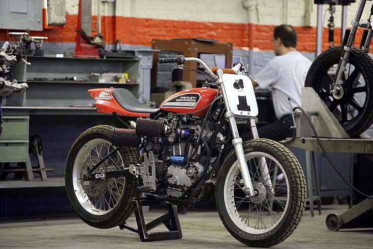 Classic Harley XR-750 Race Motorcycle