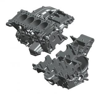 Crankcases are in two pieces instead of three